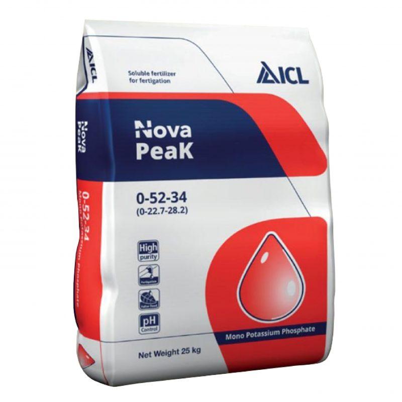 Phân bón Nova Peak 0-52-34 (MKP) (25kg/bao) - ICL